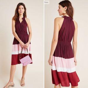 Anthropologie Cobie Colorblocked Midi Dress XL